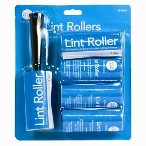 2-X-Lint-Roller-And-4-Refills-Ideal-for-Cleaning-Dirt-Dust-from-Clothes-Carpet