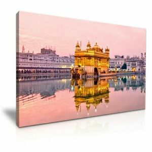 GOLDEN-TEMPLE-PICTURE-PRINT-CANVAS-WALL-ART-VARIOUS-SIZES