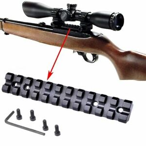 Scope-Sight-Mount-Low-Profile-Base-Weaver-Picatinny-Rail-Slot-For-Ruger-10-22-11