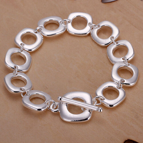 box Wholesale sterling1 solid1 silver chic charm chain bracelet BB866
