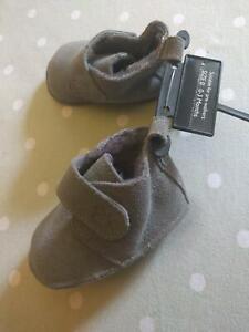 AgréAble Next Baby En Daim Gris Pre-walker Bottes 0 (0-3 Mois) Neuf Avec étiquettes!-afficher Le Titre D'origine