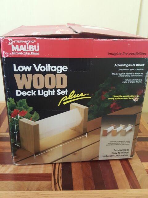 Malibu Intermatic Low Voltage Lighting Systems Cedar Deck Light Set