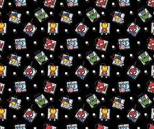 Springs Marvel Kawaii 54863 Super Hero Badge Cotton Fabric