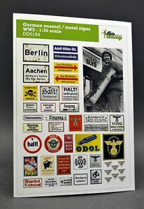 DioDump-DD164-German-enamel-metal-signs-WW2-1-35-scale-diorama-accessories