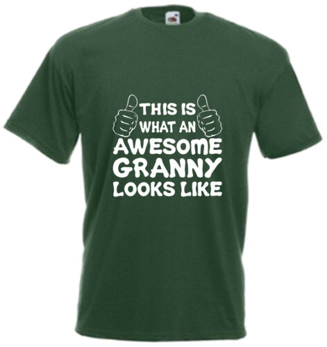 Awesome Granny T Shirt Mothers Day Gift Grand Xmas Present Nanny Birthday Tee H