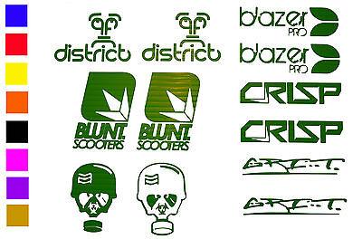 District Blazer Pro Blunt GRIT 4 x Stunt Scooter Stickers Crisp