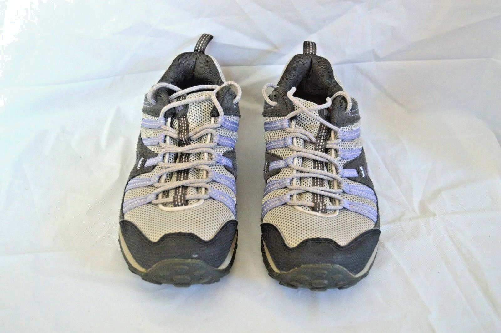MERRELL PAYETTE HIKING TENNIS SHOE GREY PERIWINKLE WOMENS SIZE 9
