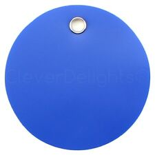 50 Blue Plastic Tags 2 Diameter Tearproof Inventory Id Tag Circle Round