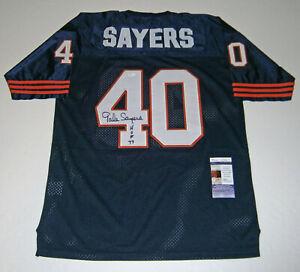 BEARS-Gale-Sayers-signed-jersey-w-HOF-77-JSA-COA-Autographed-Green-Bay-Limited