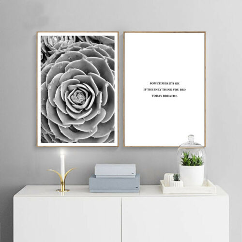 Forest Flower Canvas Art Poster Print Motivational Quote Nordic Home Decoration