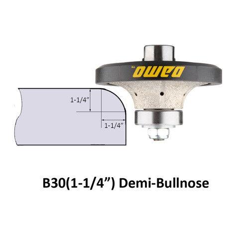 """B30 Demi-bullnose//Roundover Coarse Diamond Hand Profiler//Router Bit 1-1//4/"""""""