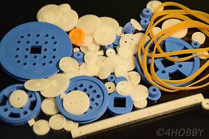 80+10 teiliges Zahnrad-Set Antriebsrädche<wbr/>n + Antriebsgummi Kunststoff Zahnräder