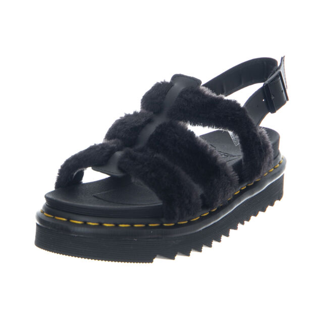 9aff8e6c6603 Dr.Martens Yelena Fluffy Black Hydro Leather + Toby - Women s Sandals Black