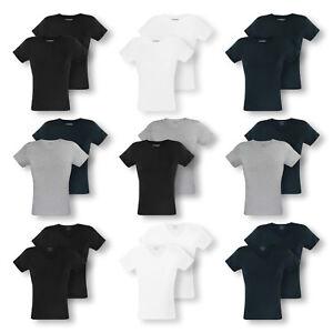2er-Pack-EMPORIO-ARMANI-Herren-T-Shirts-Shirts-kurzarm-C-Neck-V-Neck-Farbwahl