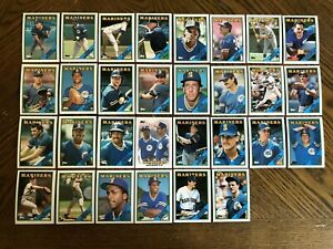 1988-SEATTLE-MARINERS-Topps-COMPLETE-Baseball-Team-SET-30-Cards-REYNOLDS-MORGAN