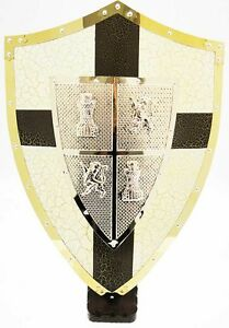 Bouclier médiévale dei leoni et les tours BLANC