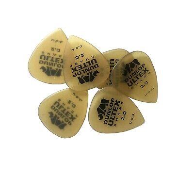 Dunlop Guitar Picks  72 Pack  Ultex Sharp  2.0mm 433R