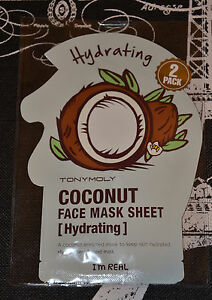 Tony-Moly-I-039-m-Real-Coconut-Face-Mask-Sheet-Hydrating-2-pack