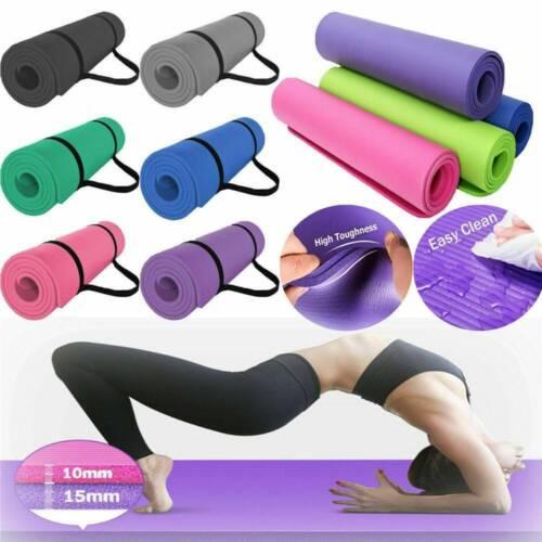 Yoga Mat Gym Fitness Exercise Eco Friendly Foam 6Mm Non Slip Pilates Physio Mats
