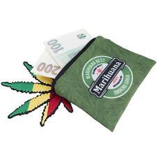 "Small ""Marijuana"" Print Weed Pot Cannabis Coin Purse with Keychain Light Weight"