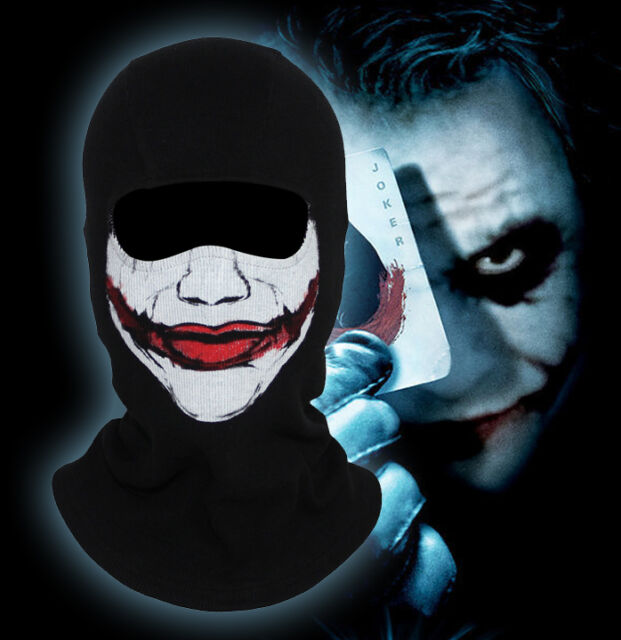 Clown Batman Balaclava Scary Joker Halloween Cosplay Costume Ski Full Face Mask