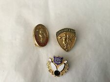 three vintage bowling pins WIBC League High and 200 Club enameled