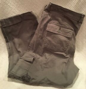 eecca9cd NWT WOMENS LEE MIDRISE FIT CROP PANTS ~ STORM GREY W/ EMBROIDERED ...
