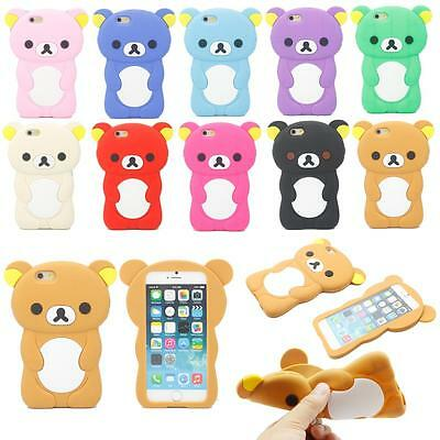 """Lovely Cute 3D Cartoon Animal Bear Silicone Soft Case Cover For iPhone 6 6s 4.7"""""""