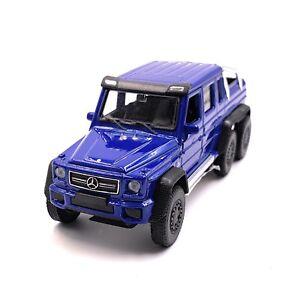 Mercedes-Benz-G63-6x6-AMG-Bleu-Maquette-de-Voiture-Auto-Echelle-1-3-4-Licence