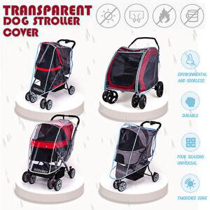 Transparent-Dog-Stroller-Rain-amp-Wind-COVER-for-Foldable-Pet-Buggy-Pushchair-Pram