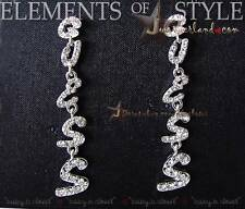 NWT Guess Pave G Font Bling Crystal Stone Drop Dangle Earrings E306