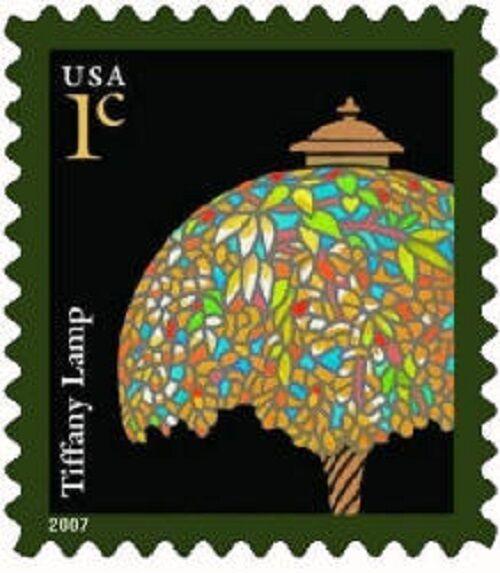 2007 1c Tiffany Lamp, American Designs Scott 3749 Mint