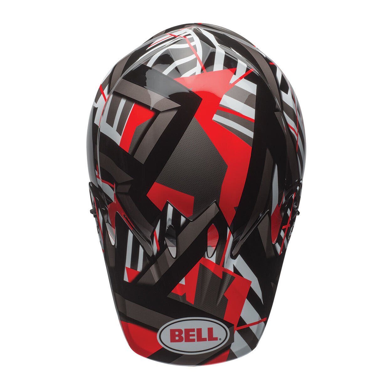 Bell Mx-9 Mips Mips Mips Motocross Mx Fahrradhelm - Tagger Double Trouble Schwarz Rot 5aaa62