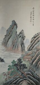 Chinese-Hanging-Scroll-ink-On-paper-Painting