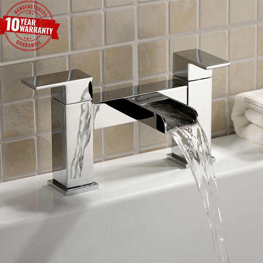 CASCATA Aperto Beccuccio Quadrato Lusso Moderno Cascata rubinetto vasca da bagno Filler  ZB