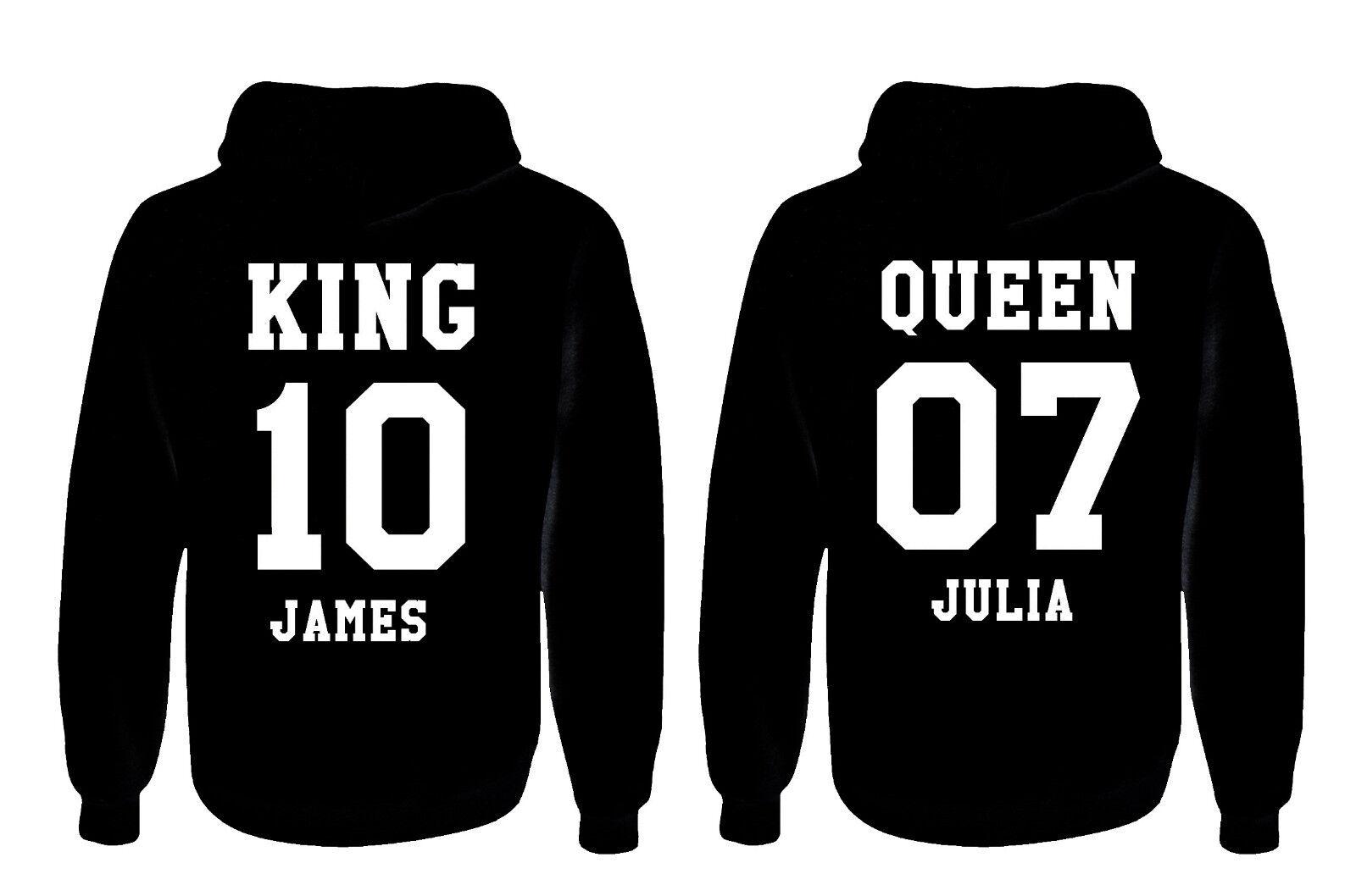 King Queen Partner Hoodie Sweatshirt 2 Stk. Christmas Weihnachtsgeschenk NEU