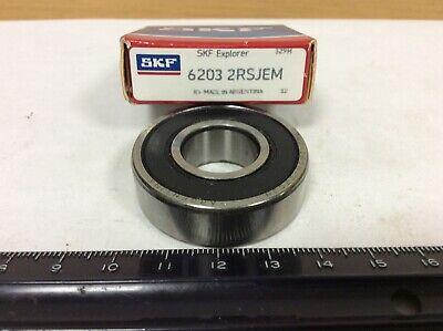 """New SKF Explorer 6203 2RSJEM 6203-2RSJEM 17x40x12mm /""""Old Stock/"""""""