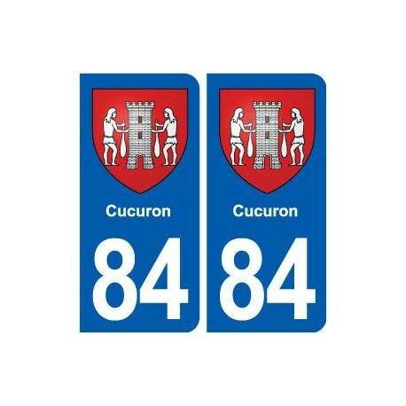 84 Cucuron blason autocollant plaque stickers ville -  Angles : droits