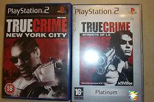 COMPLETE PLAYSTATION 2 PS2 GAMES BUNDLE TRUE CRIME NEW YORK CITY + STREETS OF LA