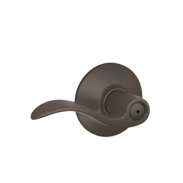 Schlage Privacy Bed/Bath Door Lever Oil Rubbed Bronze Accent
