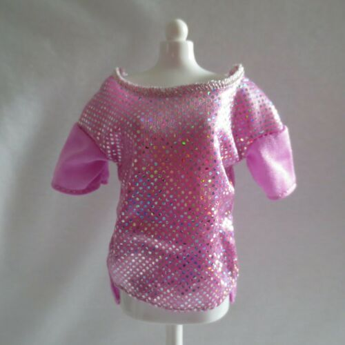 NEW Barbie Pink Passport Doll Pink Shimmer Top ~ Fashionista Model Muse Clothing
