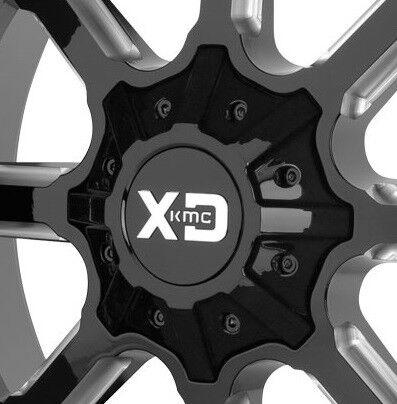 KMC XD838 Mammoth Center Cap Gloss Black NEW w//bolts fits all Mammoth Wheels