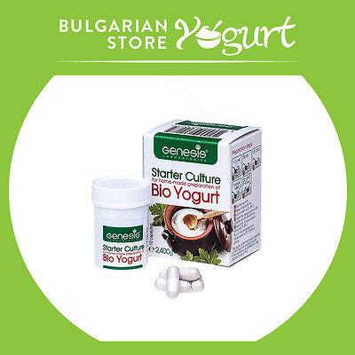 Bio Yogurt Starter Culture by GENESIS LABORATORIES LLC - 10 caps. up to 20 l