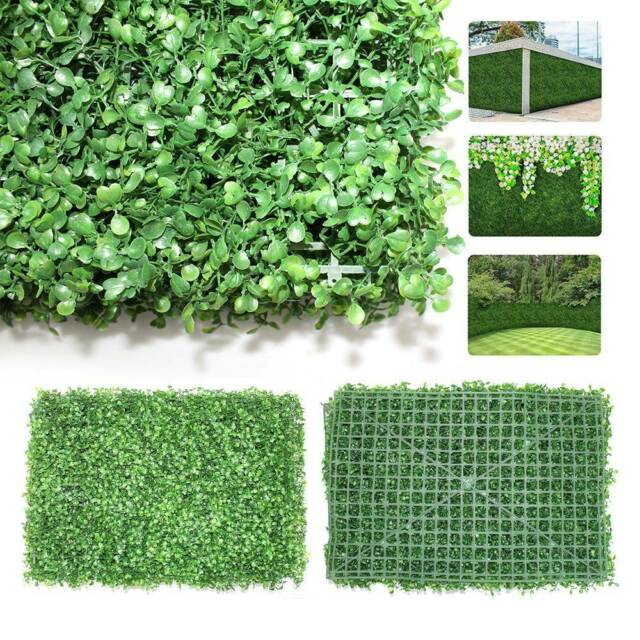 Artificial Ivy Leaf 40x60cm Hedge Mat Fence Fake Plant Grass Wall Outdoor Panels