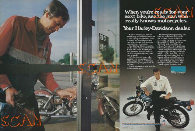 1976 Harley Davidson Ad Vintage Magazine Advertisement 76