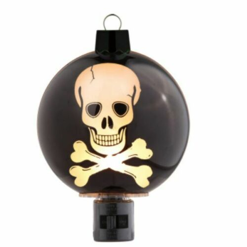 Halloween Laser Skeleton Skull Cross Bones Night Light 059722