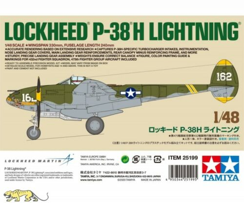 Tamiya 25199 Lockheed P-38 H Lightning Limitiert 1:48