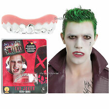 Suicide Squad The Joker Fake Silver Teeth Grill Dentures Dents Costume Cosplay