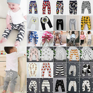 Baby-Kids-Boys-Girls-Animal-Pattern-Harem-Pants-Toddler-Bottom-Trousers-Leggings