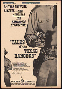 TALES-of-the-TEXAS-RANGERS-Orig-1959-Trade-AD-poster-TV-promo-WILLARD-PARKER
